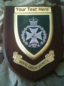 Royal Green Jackets RGJ Personalised Military Wall Plaque